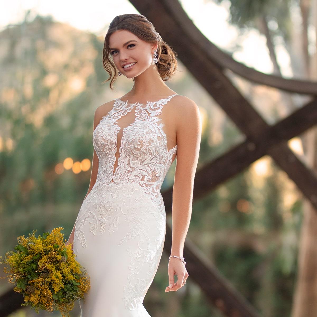 Illusion Neckline Trend Wedding Dresses