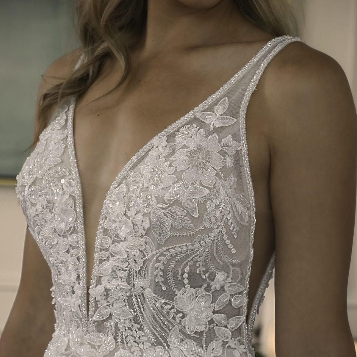 Plunging Neckline Trending Wedding Dresses