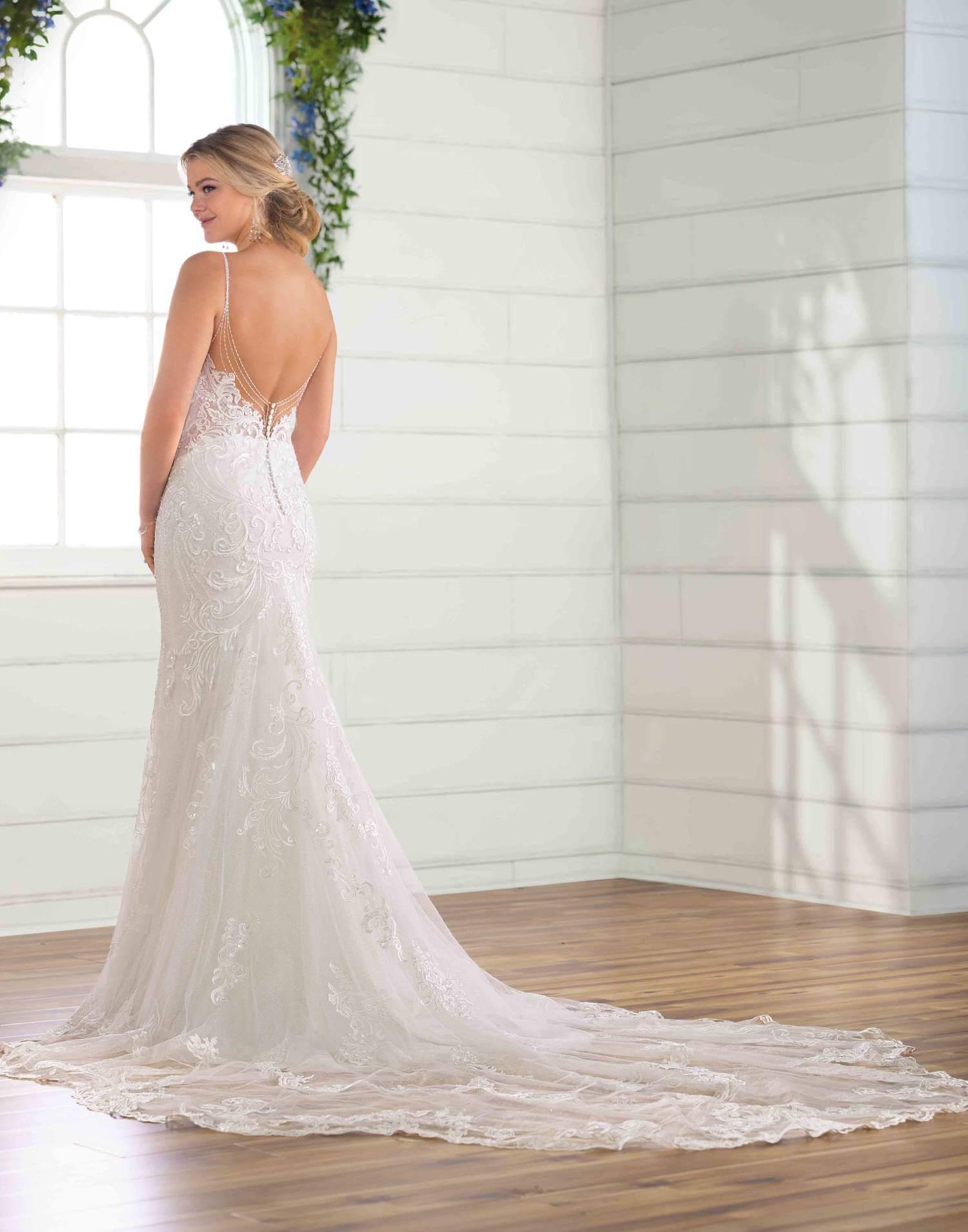 D2771 – Essense of Australia Wedding Dress Collection – Front View