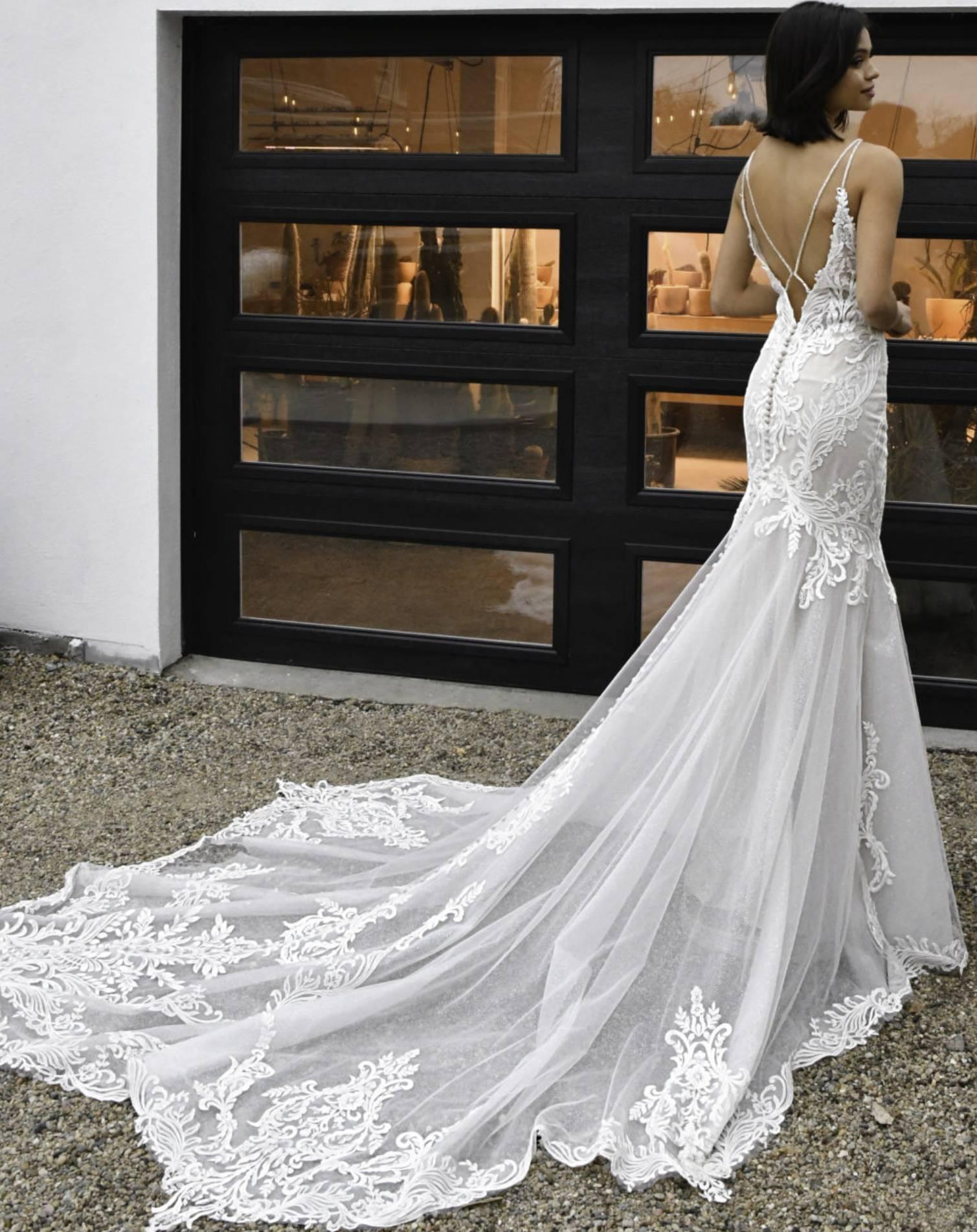 D3249 – Essense of Australia Wedding Dress Collection – Front View