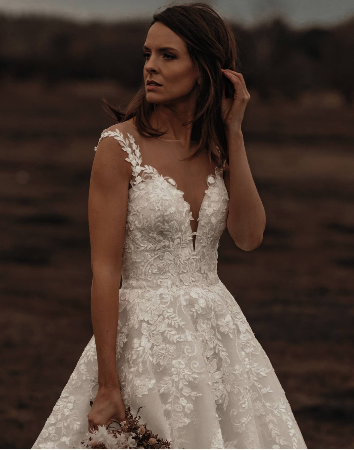 DOWNTON – Tiffanys Wedding Dress Collection – Front View