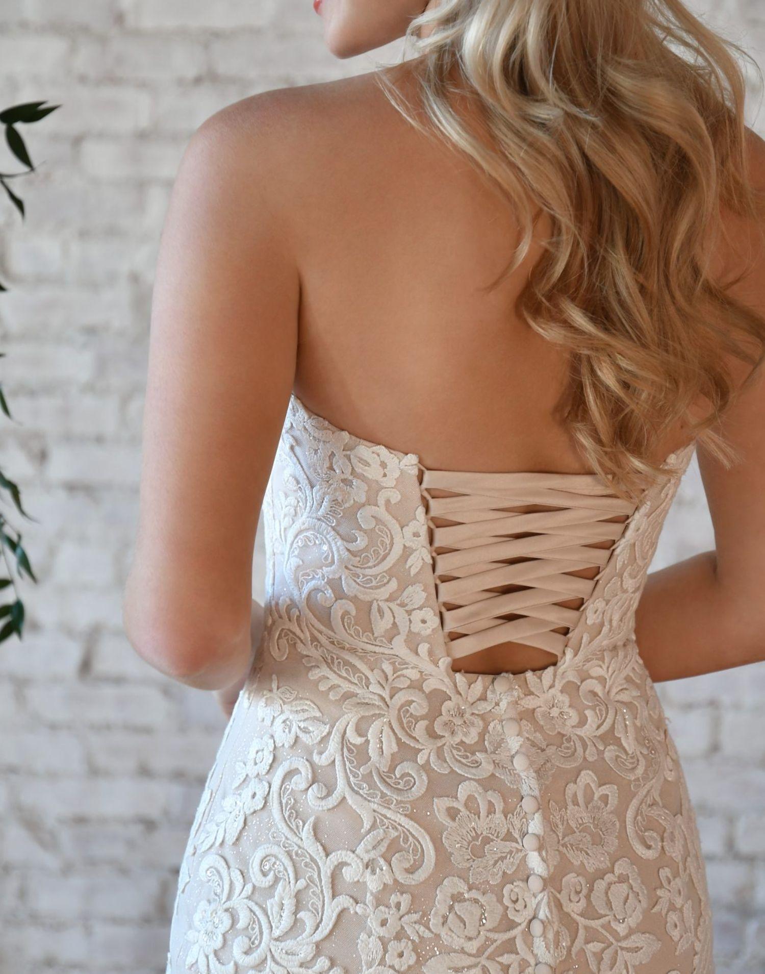 Modern Mermaid Wedding Dress From Stella York – 7323 – Front View