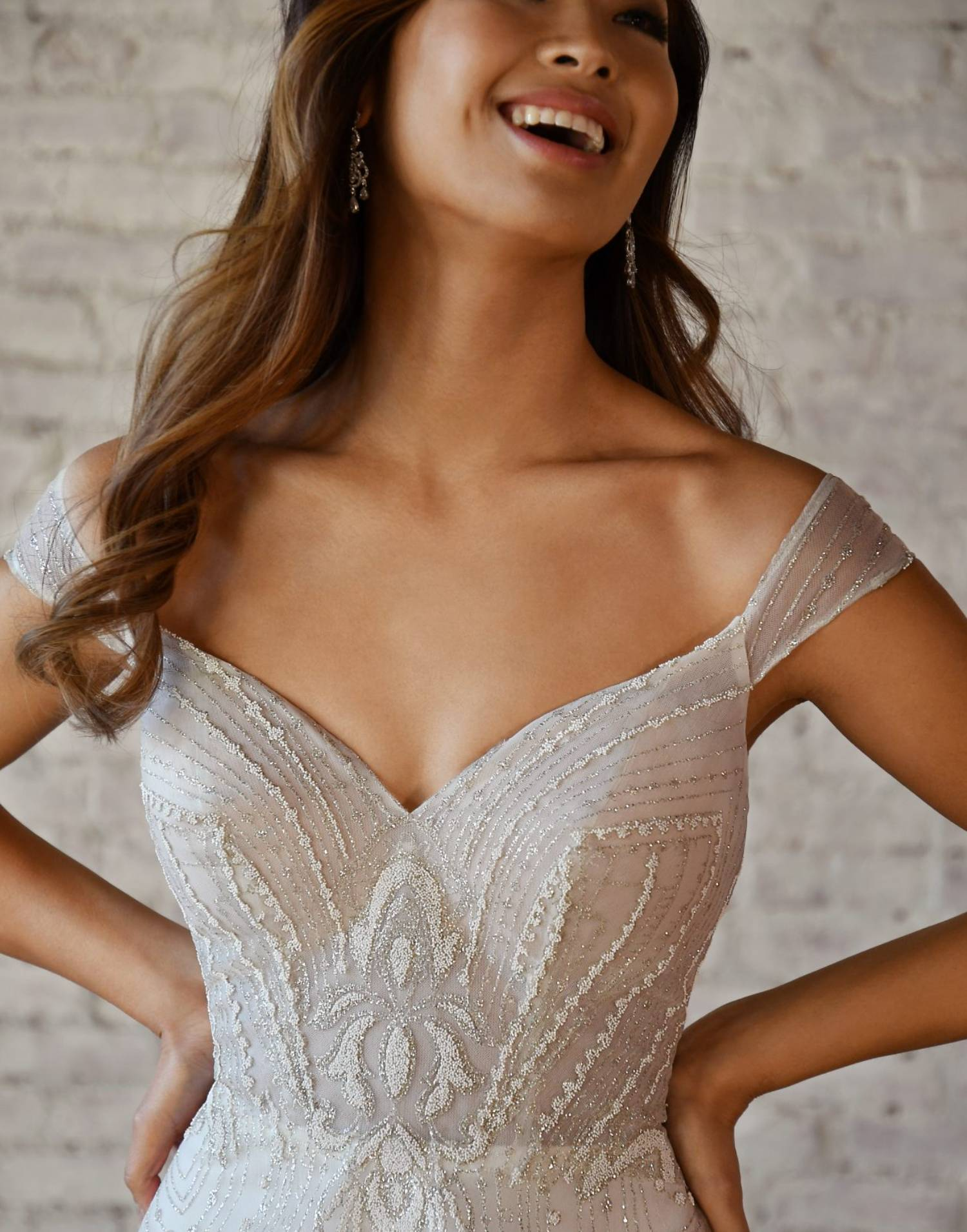 7336 Close Up – Stella York Wedding Dress Collection – Front View
