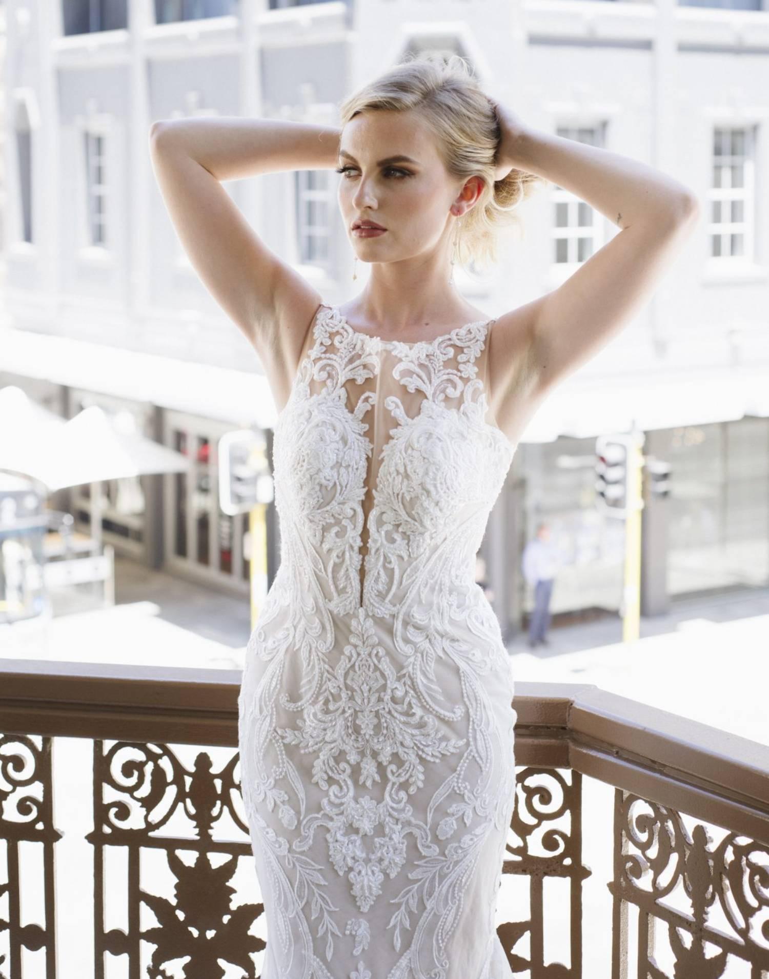 D3153 – Essense of Australia Wedding Dress Collection – Back View