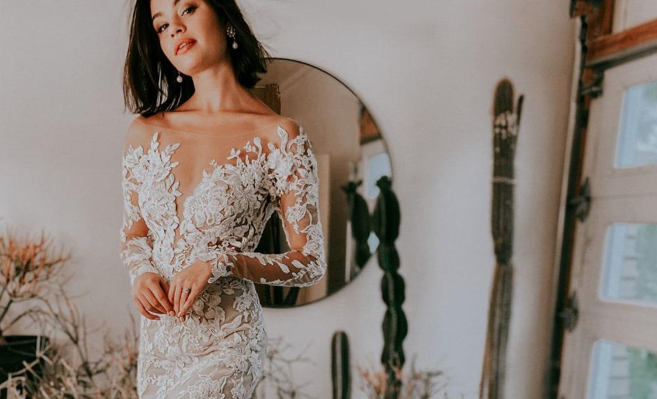 Long Sleeve Wedding Dress - Essense Of Australia