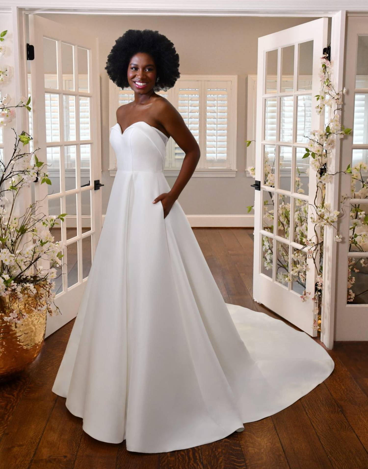 7361 Close Up – Stella York Wedding Dress Collection – Front View