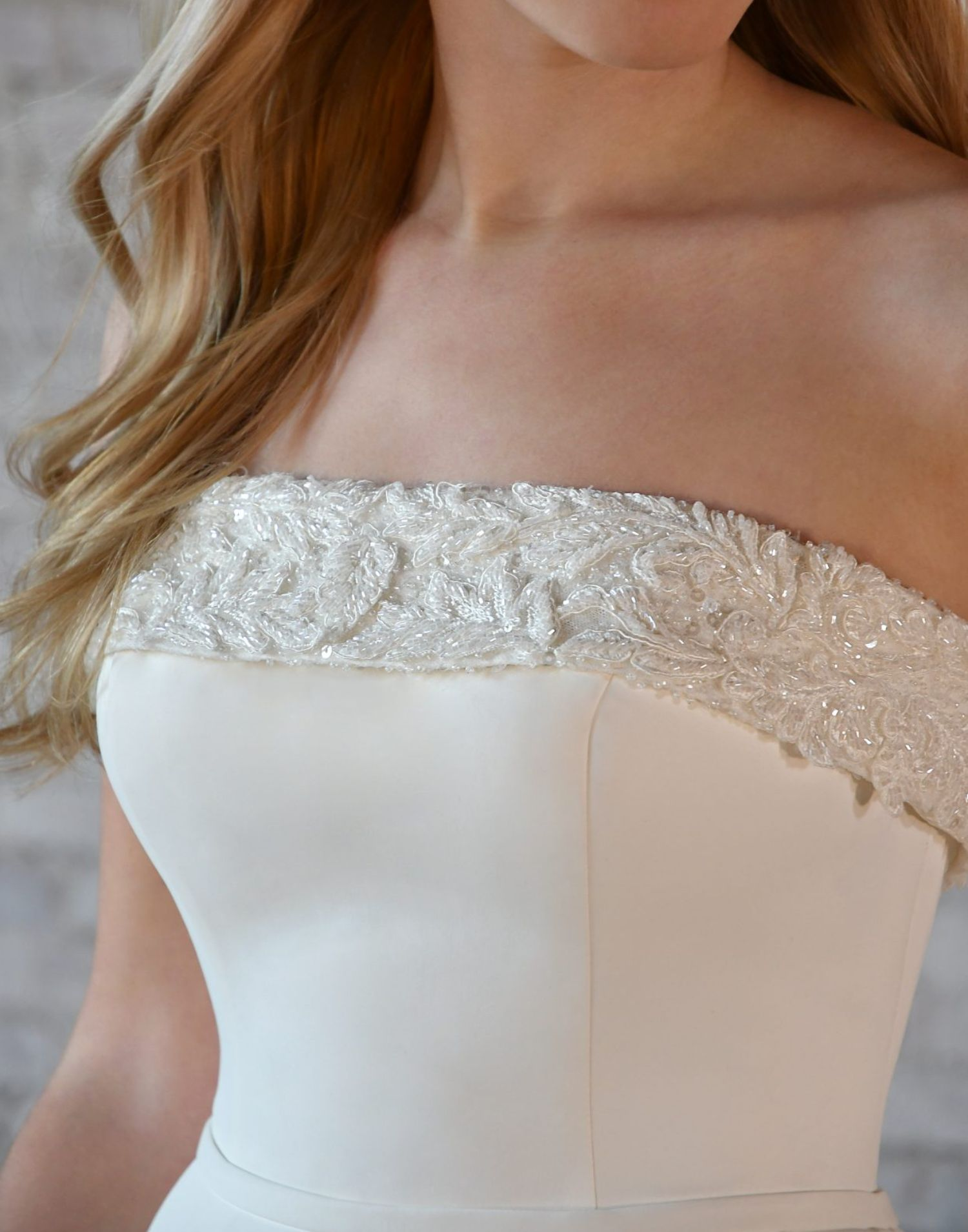 7045 With Trim – Stella York Wedding Dress Collection – Front View