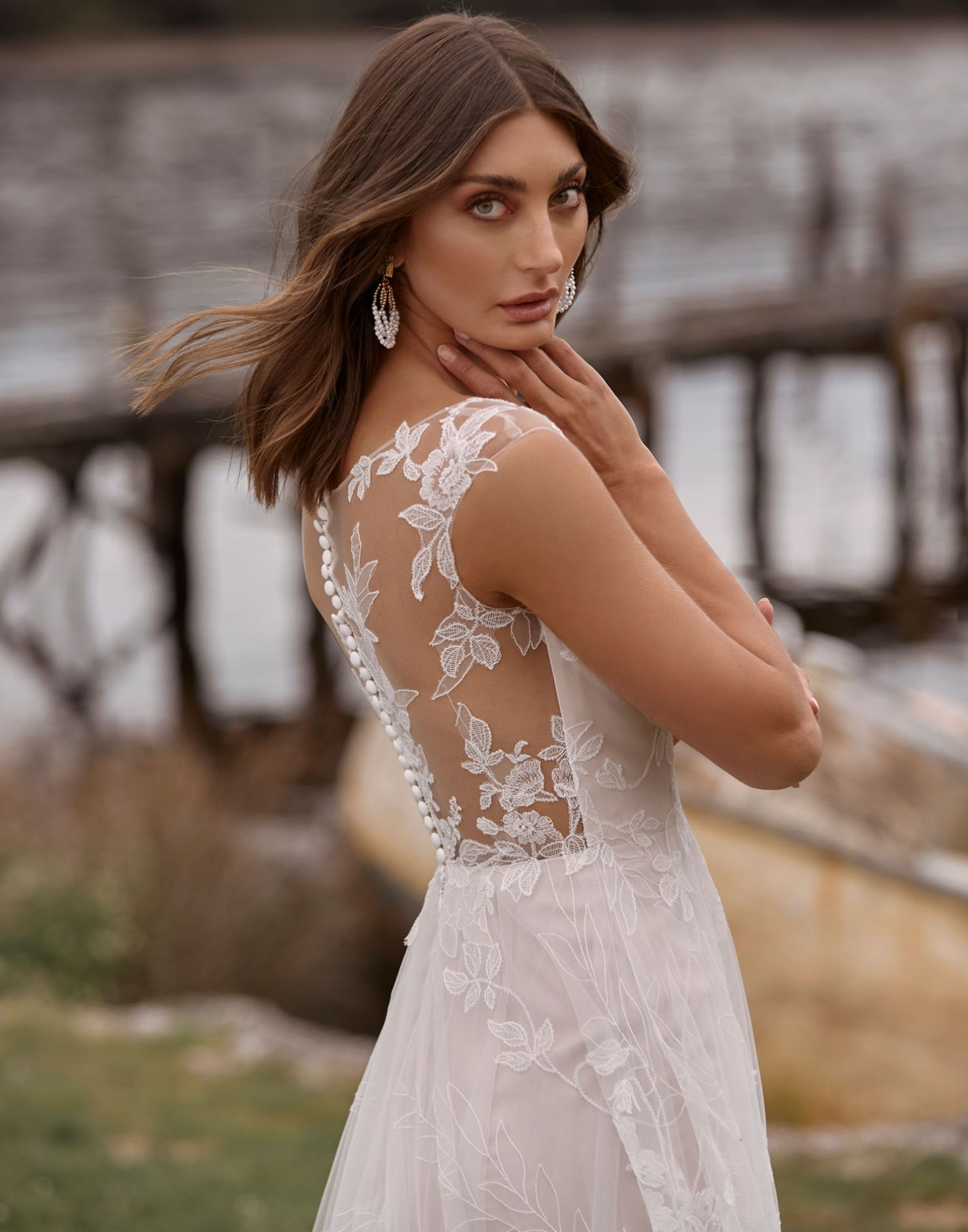 Camille Back – Madi Lane Wedding Dress Collection – Front View
