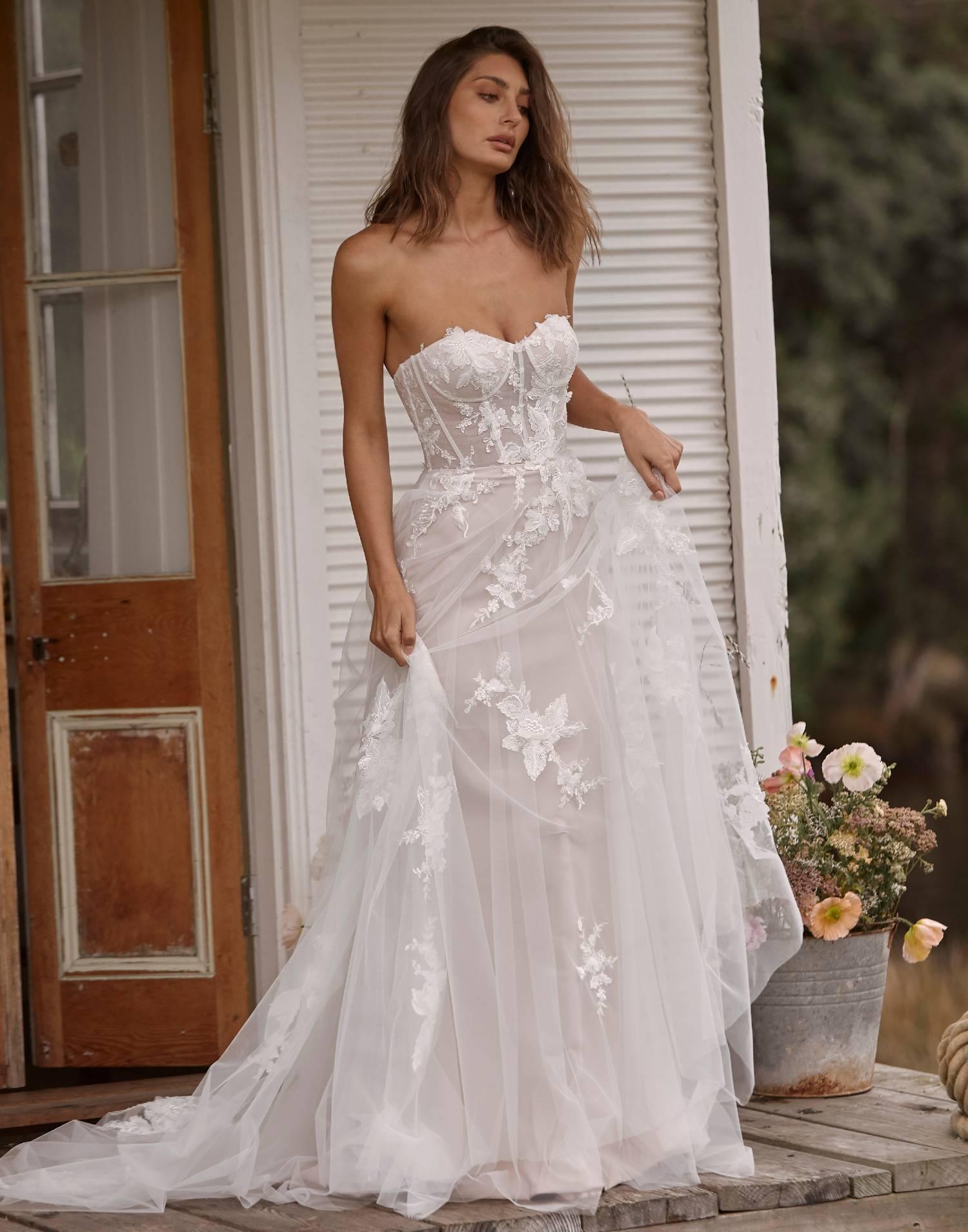 Callie – Madi Lane Wedding Dress Collection – Front View