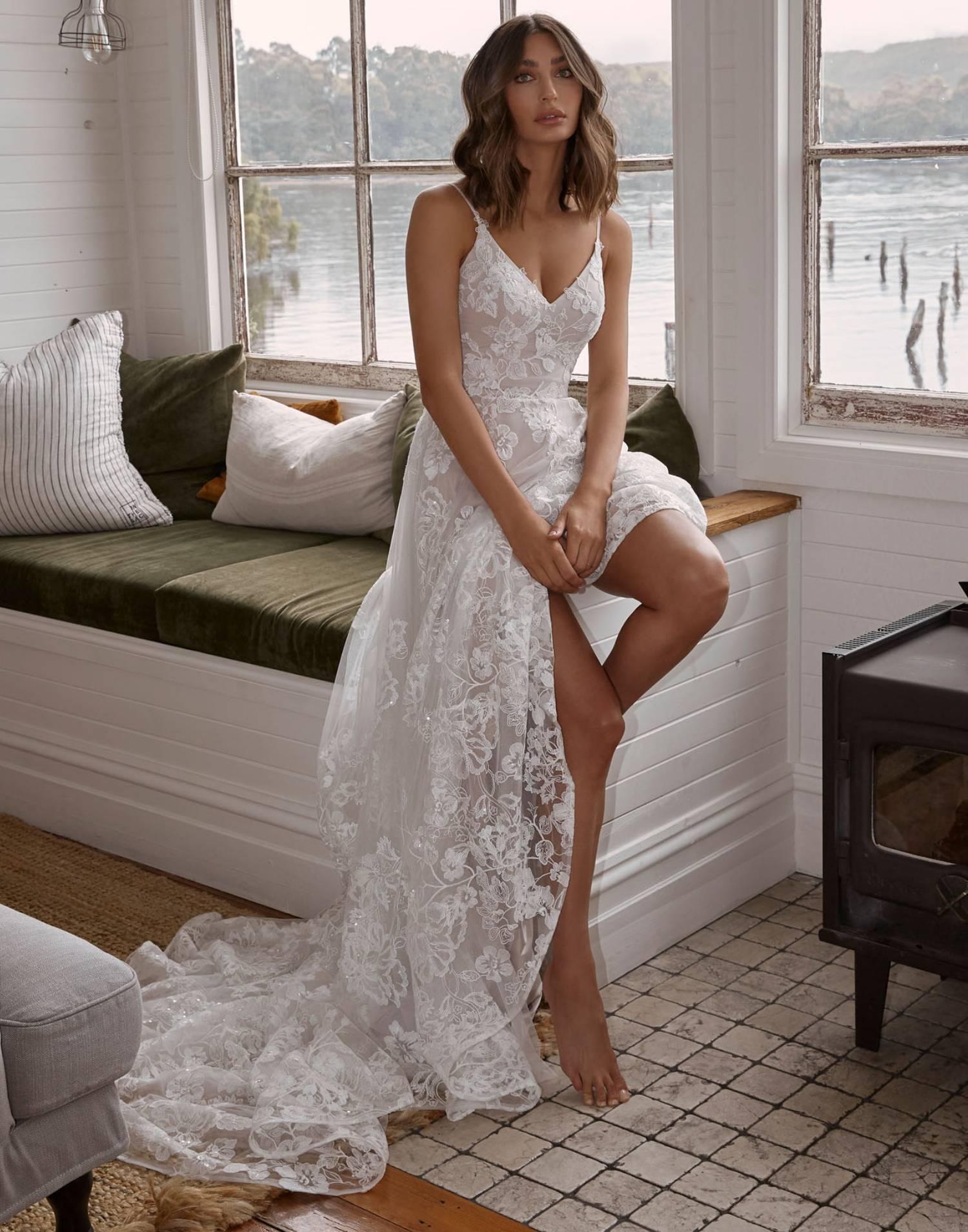 Carina – Madi Lane Wedding Dress Collection – Front View