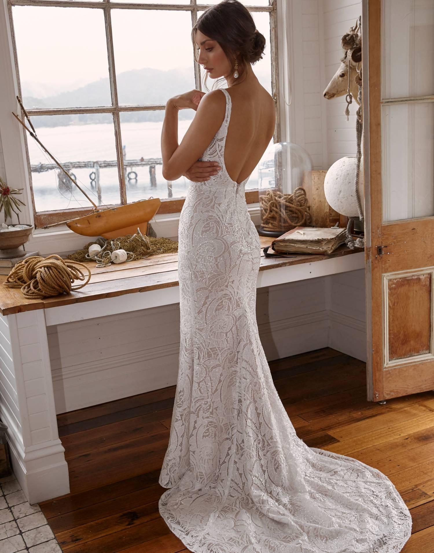 Corey – Madi Lane Wedding Dress Collection – Front View